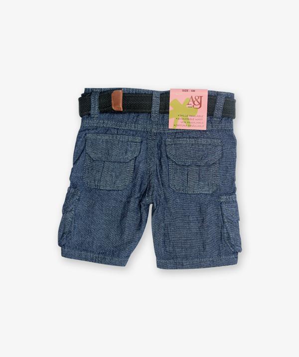 Blue cotton shorts