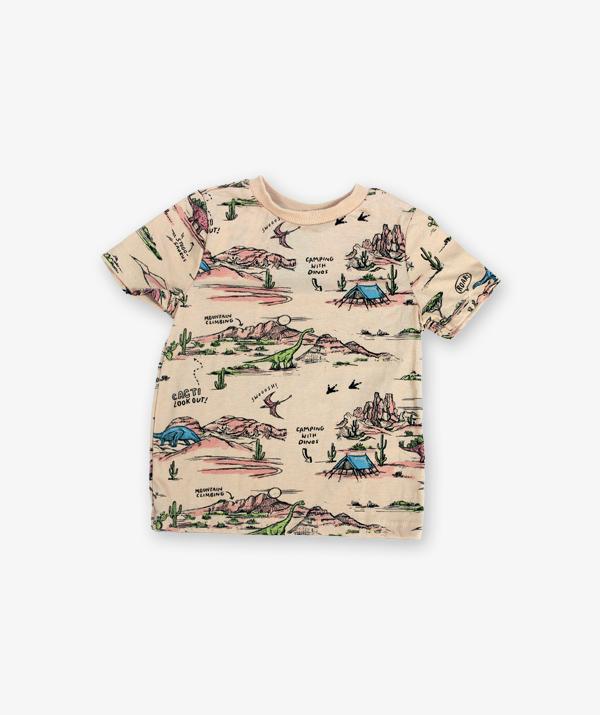 Cream Printed Tshirt_600_front