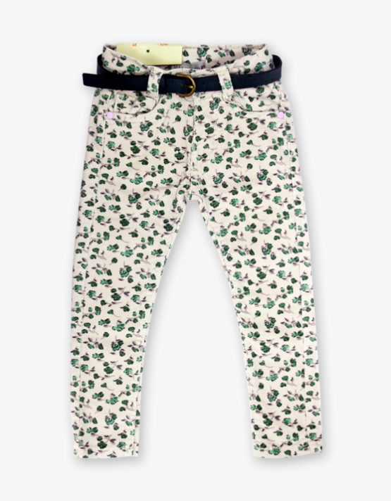 Green Floral Pant