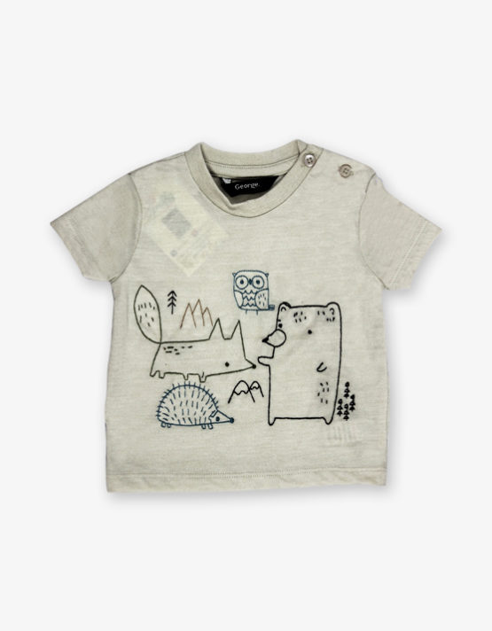 Grey Cartoon Printed Shirt_600_front