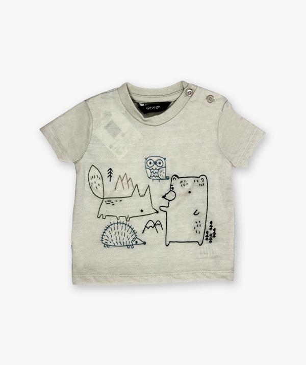 Grey Cartoon Printed Shirt_600_front