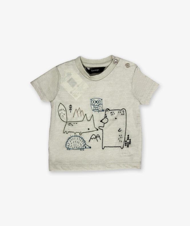 Grey Cartoon Printed Shirt_lg_front