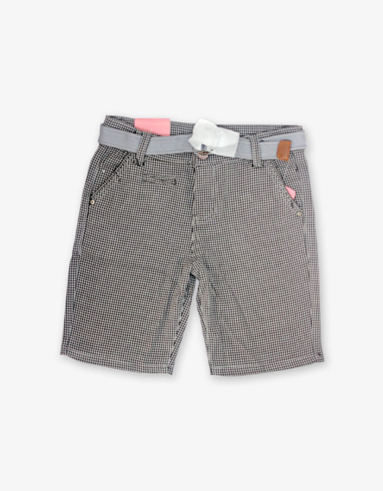 Grey checked Shorts