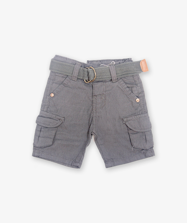 Grey shorts with belt