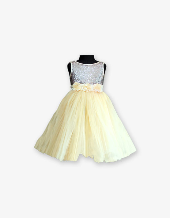 Lemon yellow Party wear Gown