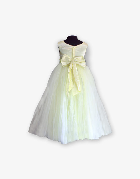 Light yellow party wear Gown_med_back