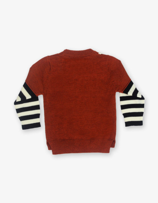 Maroon Tommy printed sweater_md_back