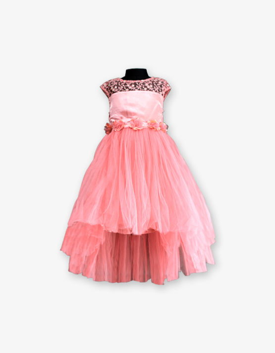 Peach Party wear Gown