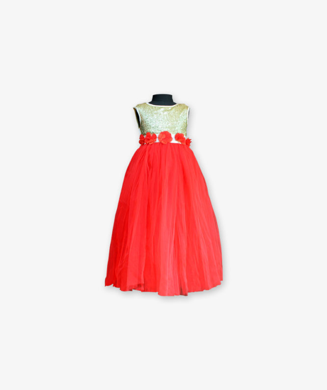 Red Party wear Gown