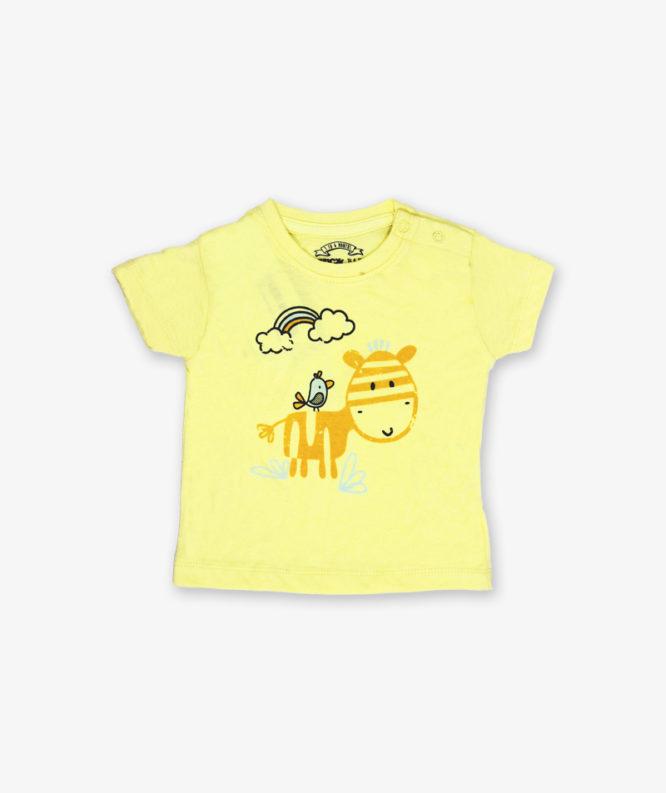 Yellow cartoon printed tshirt_LG_front