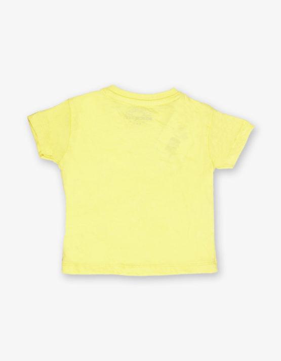 Yellow cartoon printed tshirt_med_back