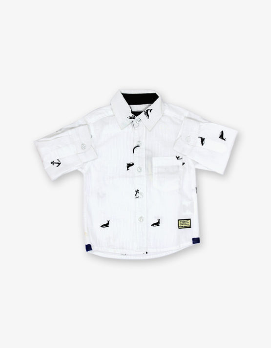 White Dolphine Printed shirt