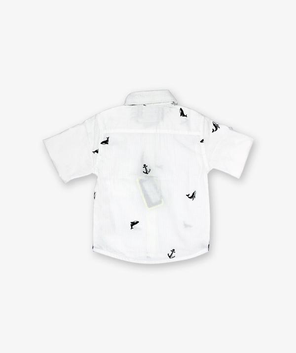 White Dolphine Printed shirt