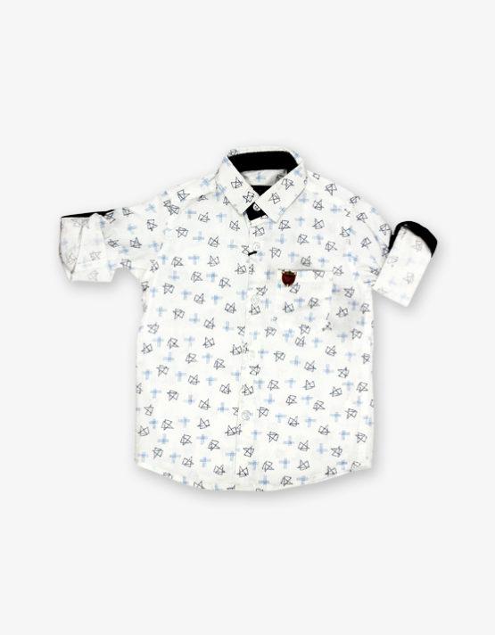White triangle printed shirt