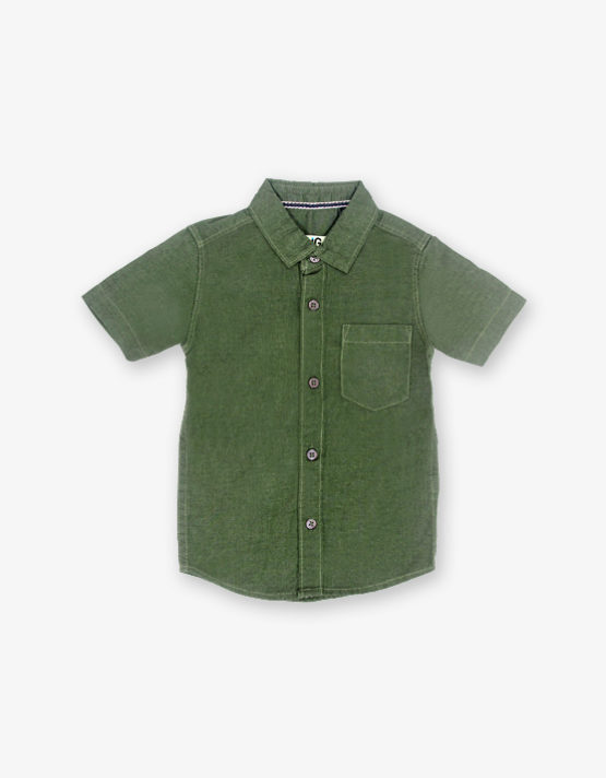 Solid Bottel green shirt