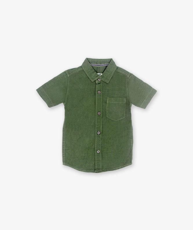 Solid Bottel green shirt