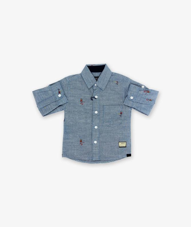 Grey parrot printed Shirt