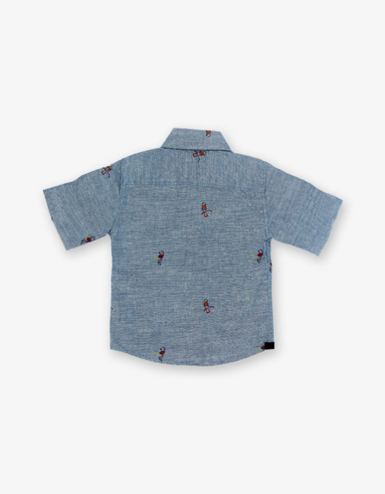 Grey parrot printed Shirt