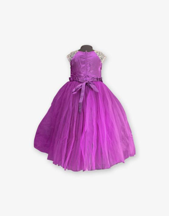 purple party wear gown