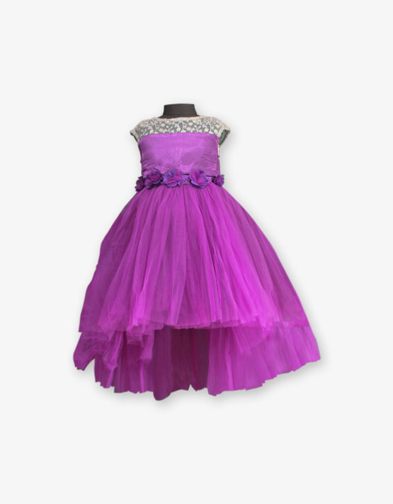 purple party wear gown